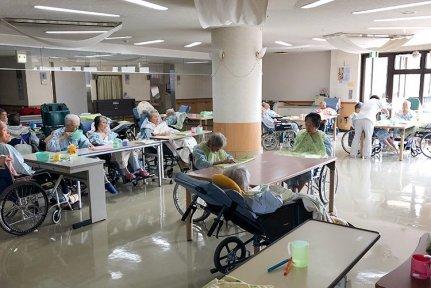 くるみ介護医療院の食堂・談話室